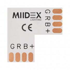 Connecteur L Bandeaux LED 12V / 24V 10mm RGB à souder