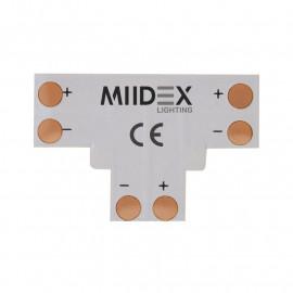 Connecteur T Bandeaux LED 12V / 24V 8mm à souder