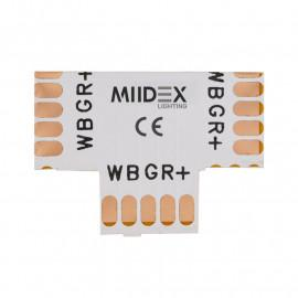 Connecteur T Bandeaux LED 12V / 24V 12mm RGB+W à souder