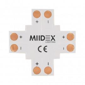 Connecteur X Bandeaux LED 12V / 24V 10mm à souder