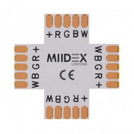 Connecteur X Bandeaux LED 12V / 24V 12mm RGB+W à souder