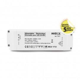 Alimentation pour LED 20-40VDC 40W Dimmable Coupure de phase