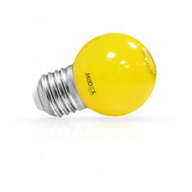 Ampoule LED E27 Bulb G45 1W Jaune