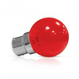 Ampoule LED B22 Bulb 1W Rouge