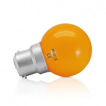 Ampoule LED B22 Bulb 1W Orange