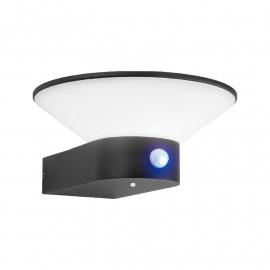 Applique Murale LED Solaire + Détecteur 2,8 Watt 3000K Gris anthracite