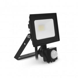 Projecteur LED Noir + Détecteur 10W 4000K
