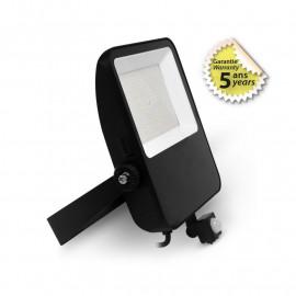 Projecteur LED Noir + Détecteur 100W 4000K IP65 GARANTIE 5 ANS