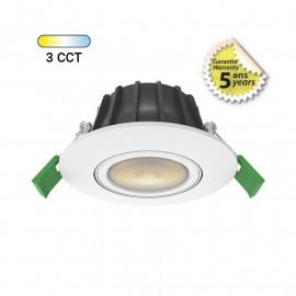 Spot LED CCT BBC 230V 6W 2700/3000/4000K Gradable Orientable 360°