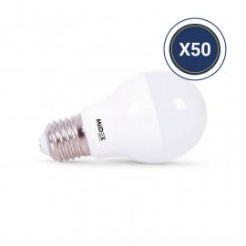 Ampoule LED E27 Bulb 6W 3000K Pack de 50