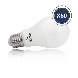 Ampoule LED E27 Bulb 10W 3000K Pack de 50