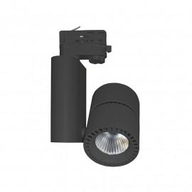Spot LED sur Rail Noir 40W 3000°K