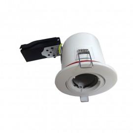 Support plafond BBC Rond orientable Blanc avec douille automatique Ø100 mm