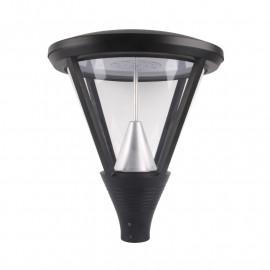 Lanterne sur mat LED YS5 Gris Anthracite 60W IP65 IK10 4000°K