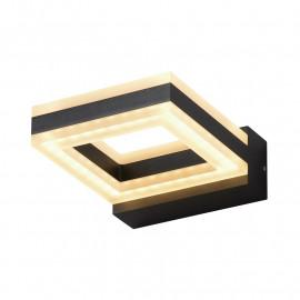 Applique Murale LED Gris Anthracite carré 12W 800 LM 4000°K IP54