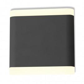 Applique murale LED 6W 530 LM 115mm carré 3000°K Gris Anthracite IP54