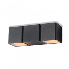 Applique murale LED 2x3W 350 LM 4000°K Gris Anthracite IP54
