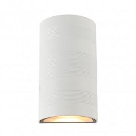 Applique Murale LED 2x5W Cylindrique 3000°K Blanc IP54
